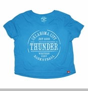 Oklahoma City Thunder Women's Sportiqe Steele Tee - Blue