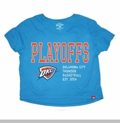 Oklahoma City Thunder Women's Sportiqe Steele Bay Playoff Tee - Blue