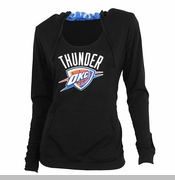Oklahoma City Thunder Women's Sublime Long Sleeve Hooded Top - Black