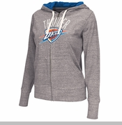 Oklahoma City Thunder Women's Teagan Full Zip Hoodie - Grey