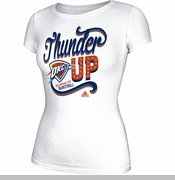 Oklahoma City Thunder Womens Adidas Swirl Around Tee - White