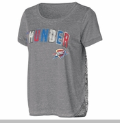 Oklahoma City Thunder Womens Butterfly Short Sleeve Tee - Grey