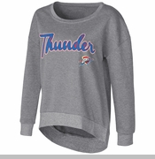 Oklahoma City Thunder Womens Embrace Scoop Sweatshirt - Grey