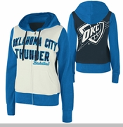 Oklahoma City Thunder Womens Option Full-Zip Hood - White