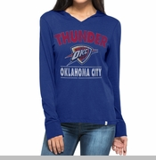 Oklahoma City Thunder Womens Rebound Long-Sleeved Hooded Tee - Blue