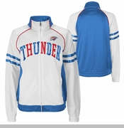 Oklahoma City Thunder Womens Rookie Track Jacket - White
