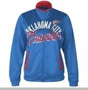 Oklahoma City Thunder Womens Star Club Track Jacket - Blue