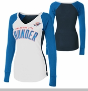 Oklahoma City Thunder Womens Team Pride Longsleeve V-Neck Tee - White