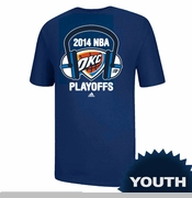 Oklahoma City Thunder Youth 2014 Playoffs Headphones Tee - Royal