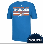 Oklahoma City Thunder Youth Adidas Mesh Bar 2014 Clinch Tee - Blue