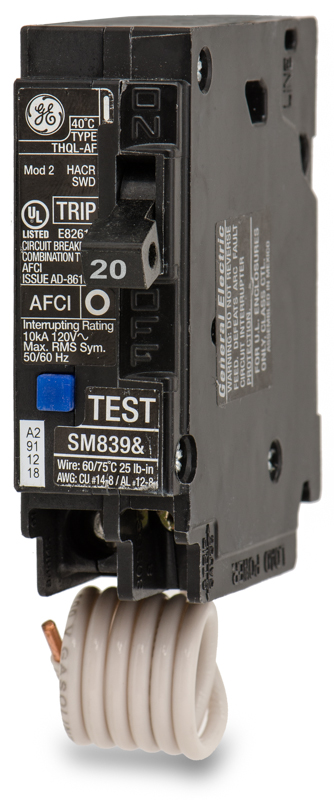 THQL1120AF Arc Fault Plug-In Circuit Breaker | General Electric