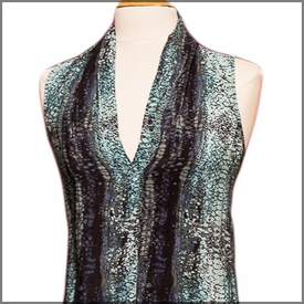 Flapper Dress-Teal Reptile
