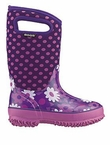 Bogs Boots: Plum Flower Dots