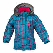 Jupa Maya Jacket in Blue/Pink Plaid