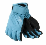 Obermeyer Alpine Gloves: Surf Blue