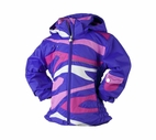 Obermeyer Kismet Jacket in Grape/Hot Pink/Pink/Snowflake