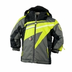 Obermeyer Super G Jacket: Basalt/Lime/Black