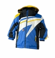 Obermeyer Super G Jacket in Electric Blue, Mustard, Black and White