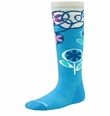 Smartwool Wintersport Socks: Horizon Blue Flower Patch