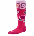 SmartWool Wintersport Socks: Pink Punch Flower Patch