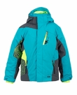 Spyder Challenger Jacket in Turq/Black/Sharp Lime