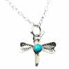 Dragonfly Turquoise Pendant Necklace