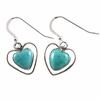 Heart Loop Turquoise Dangle Earrings