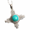 Small Zia Turquoise Pendant Necklace