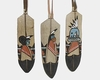 Wooden Feather Ornament with Kachina Figures