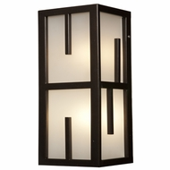 Access 20376MG-BRZ-FST Zen Contemporary Bronze & Frosted Glass Outdoor Wall Sconce