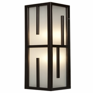 Access 20377MG-BRZ-FST Zen Contemporary Bronze & Frosted Glass Outdoor Wall Lighting