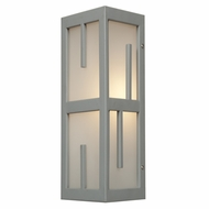 Access 20377MG-SAT-FST Zen Modern Satin & Frosted Glass Exterior Sconce Lighting