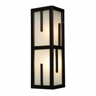 Access 20378MG-BRZ-FST Zen Contemporary Bronze & Frosted Glass Outdoor Light Sconce