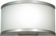 Access 20397-SAT-OPL 180 Satin & Opal Glass Exterior Wall Sconce Lighting