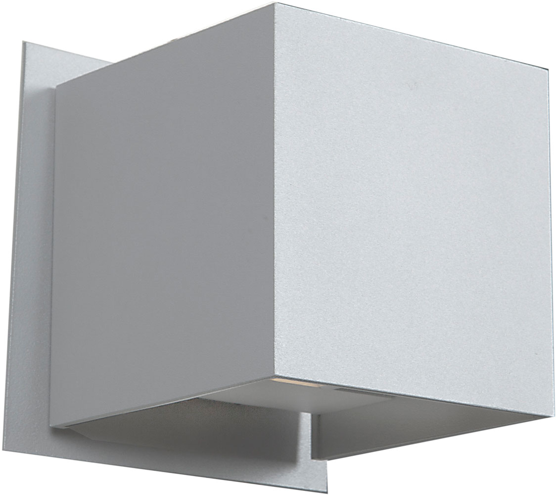 Led Wall Light White: Access 20398LED-WH Square Contemporary White & White Metal