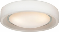 Access 20682LED-CH-OPL Splash Contemporary Chrome & Opal Glass LED Ceiling Light Fixture