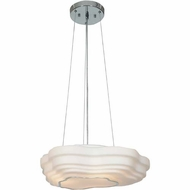 Access 20687-CH-OPL Nimbus Contemporary Chrome Finish 16.5  Wide Pendant Lighting