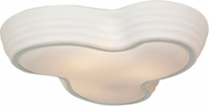 Access 20688LED-CH-OPL Pebble Contemporary Chrome & Opal Abstract Glass LED Flush Lighting