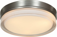Access 20775LED-BS-OPL Solid Brushed Steel & Opal Glass LED Ceiling Light Fixture