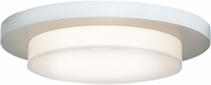 Access 20779LED-WH-ACR Link Contemporary White & White Acrylic LED Flush Mount Lighting Fixture