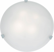 Access 23021LED-CH-WH Mona Chrome & White Glass LED Ceiling Lighting Fixture
