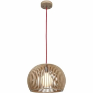 Access 23771-WD-nAT Kobu Contemporary Wood / Natural Finish 13  Wide Pendant Lighting Fixture