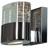 Access 23925-CH-CLR Bubbles Contemporary Chrome Finish 5  Wide Halogen Lighting Sconce