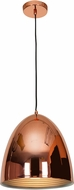 Access 28091-SCP Essence Contemporary Shiny Copper & Shiny Copper Aluminum Mini Pendant Lighting Fixture
