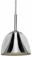 Access 50147-CH-CLR Metalico Modern Chrome Finish 7  Tall Halogen Mini Hanging Light Fixture