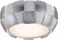 Access 50900LED-WH-CH Layers Modern Chrome & White Acrylic LED Flush Ceiling Light Fixture