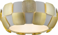 Access 50900LED-WH-GLD Layers Contemporary Gold & White Acrylic LED Flush Mount Ceiling Light Fixture