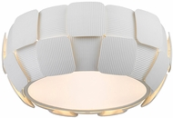 Access 50900LED-WH-WH Layers Modern White & White Acrylic LED Home Ceiling Lighting