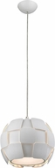 Access 50903-WH-WH Layers Contemporary White & White Acrylic Fluorescent Mini Drop Ceiling Light Fixture