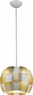 Access 50903LED-WH-GLD Layers Contemporary Gold & White Acrylic LED Mini Drop Lighting